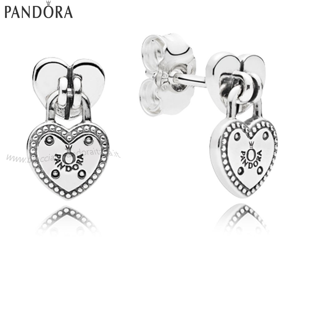 Pandora Gioielli Scontati Amore Locks Stud Earrings