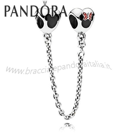 Pandora Gioielli Scontati Mickey And Minnie Mouse Sicurezza Catena